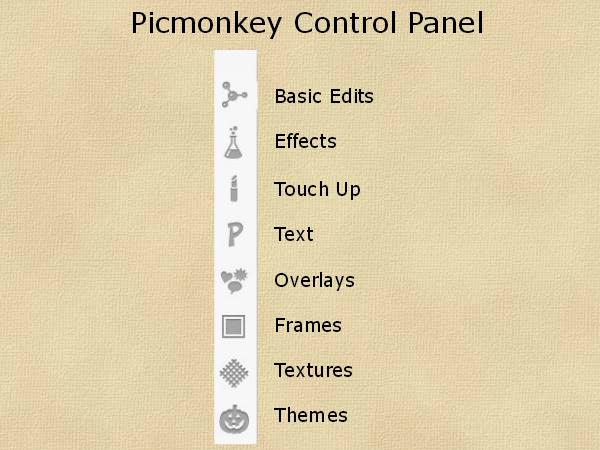 1 Picmonkey Control Panel