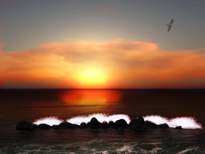 Sunset over New Polebarkia