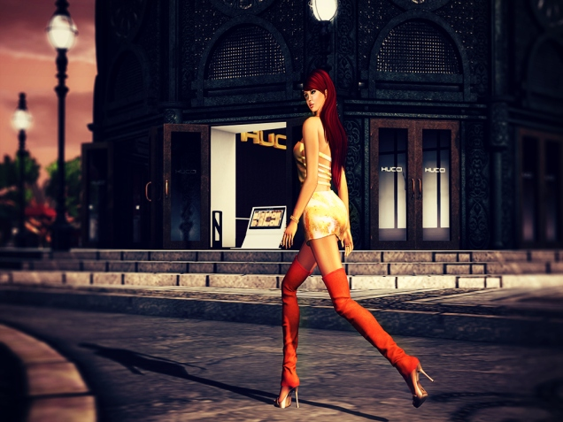 Thanks to the Hucci Subscriber, I have these gorgeous boots...and dress ;)