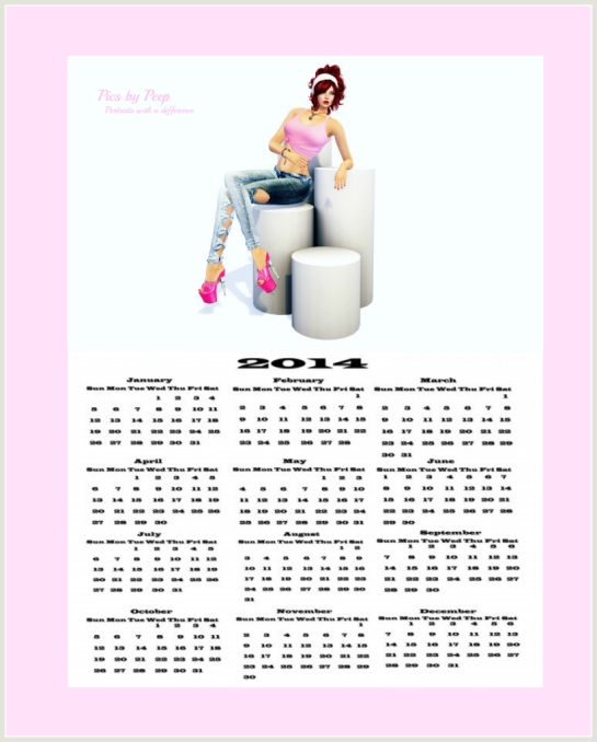 1 Peep's 2014 CalendarWM