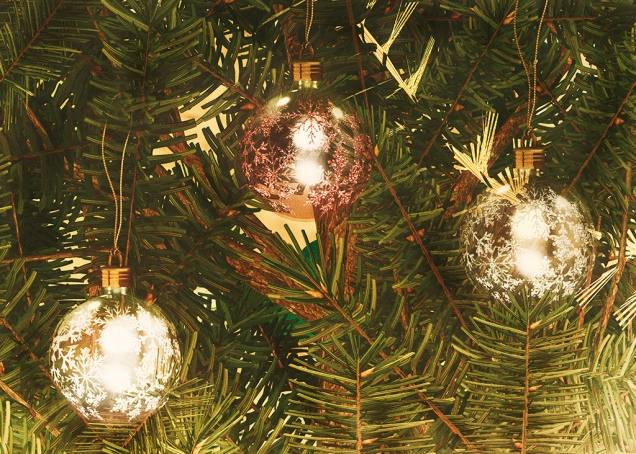 Tree Glass Jewel Ornaments by Salt & Pepper